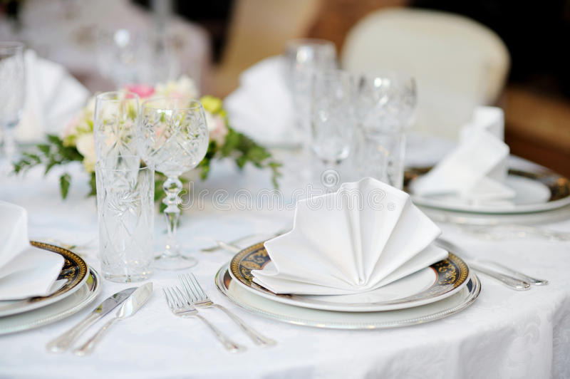 Download Table Set For An Event Party Stock Photo - Image of marriage, event: 23376624