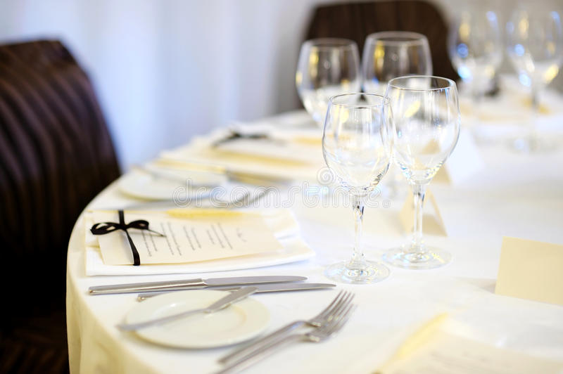 Download Table Set For An Event Party Stock Photo - Image: 23415644