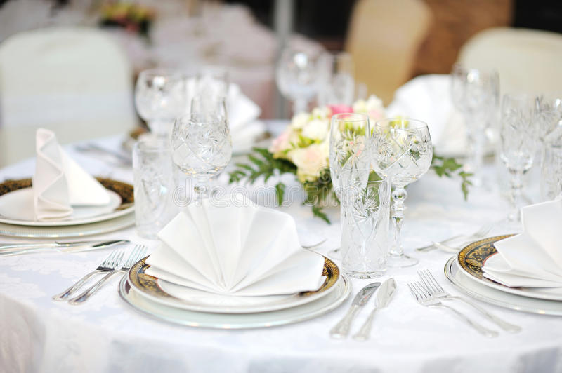Download Table Set For An Event Party Stock Photo - Image: 23492264