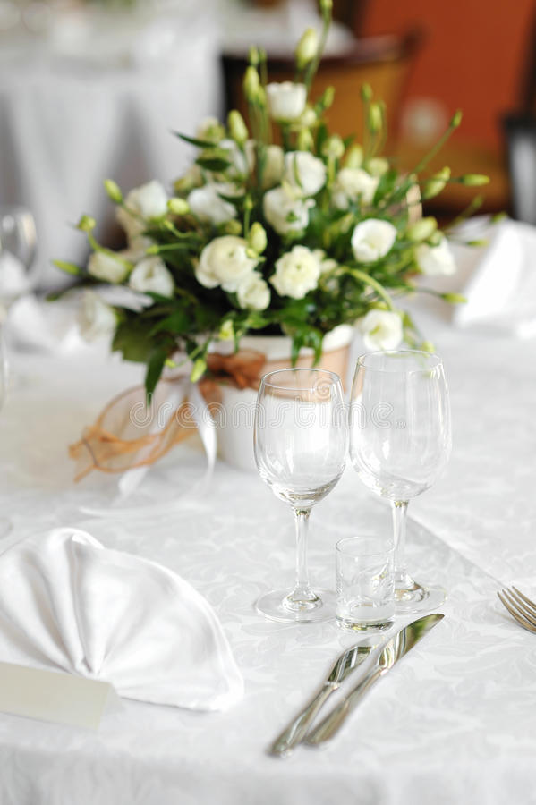 Table set for an event party or wedding