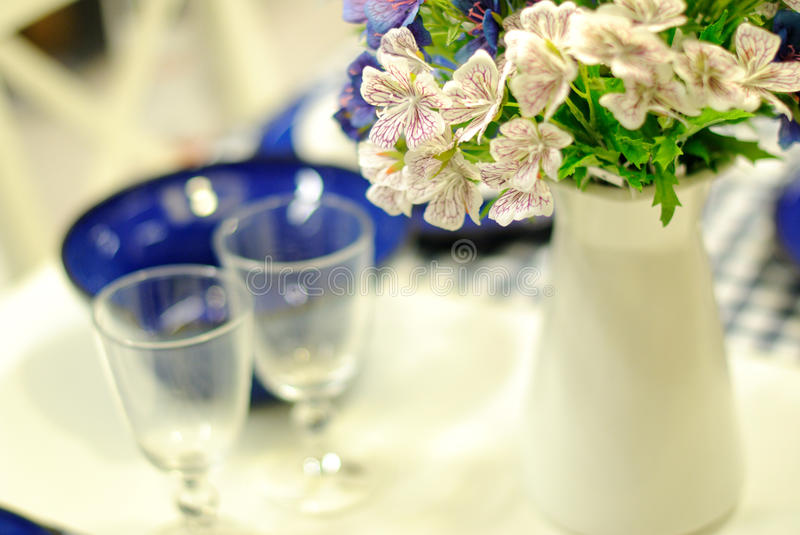 Download Table Set For An Event Party Or Wedding Reception Stock Photo - Image: 29410518