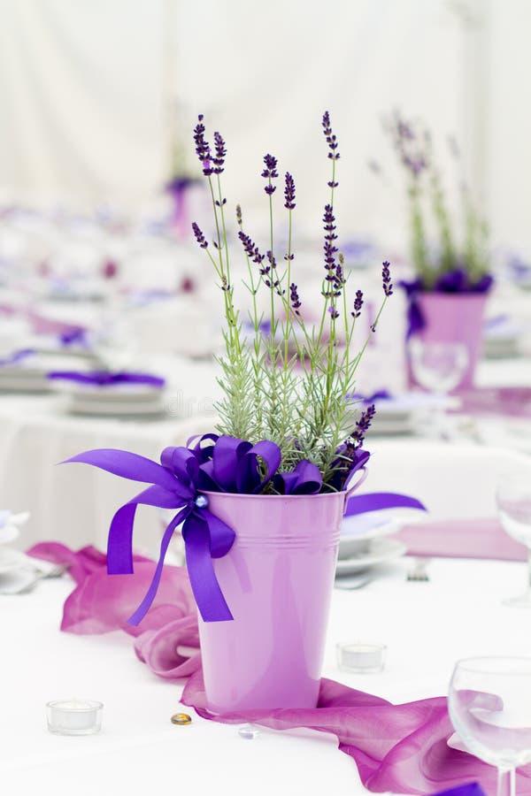 Table set for wedding stock image
