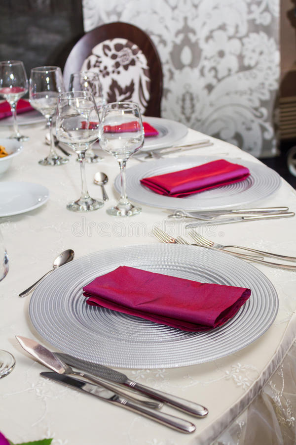 Download Table setting stock image. Image of chairs, environment - 24877911