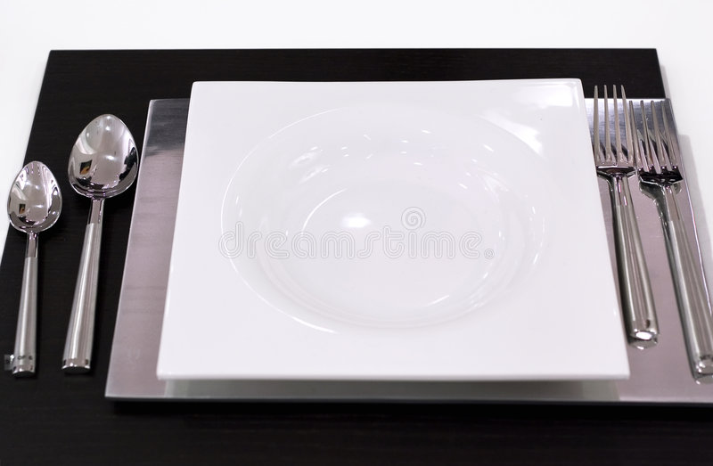 Download Table setting stock image. Image of classic, black, placemat - 472711