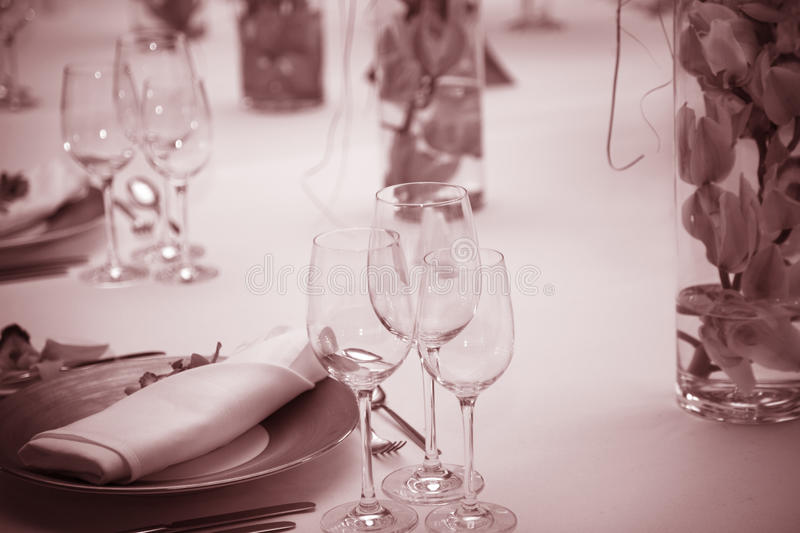 Table setting background stock image
