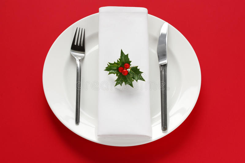 Download Table Setting For Christmas Dinner Stock Image - Image: 22376293