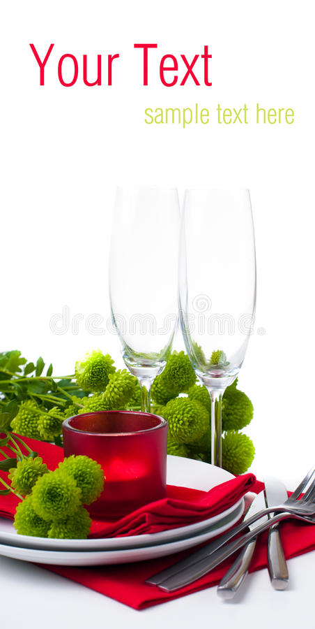 Download Table Setting With Chrysanthemums, Ready Template Stock Image - Image: 27840021