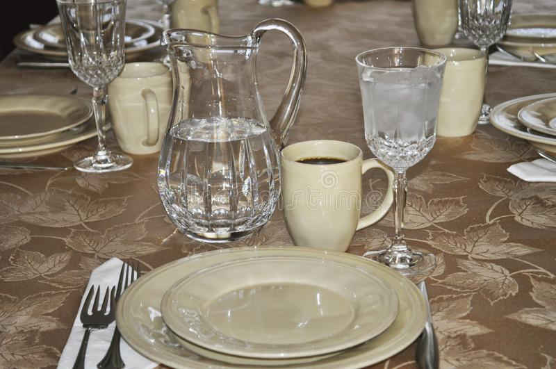 Download Table Setting. Full Table Place Setting. Stock Photo   Image Of  Knife,