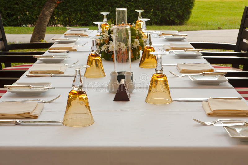 Download Table setting in garden stock image. Image of dining - 23555973