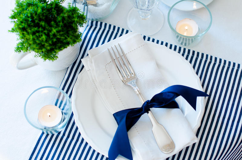 Download Table Setting In Navy Blue Tones Stock Photo - Image of elegant fork & Table Setting In Navy Blue Tones Stock Photo - Image of elegant ...