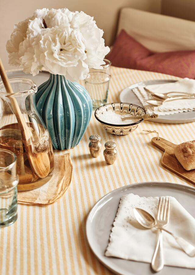 Table Setting 01 royalty free stock photo