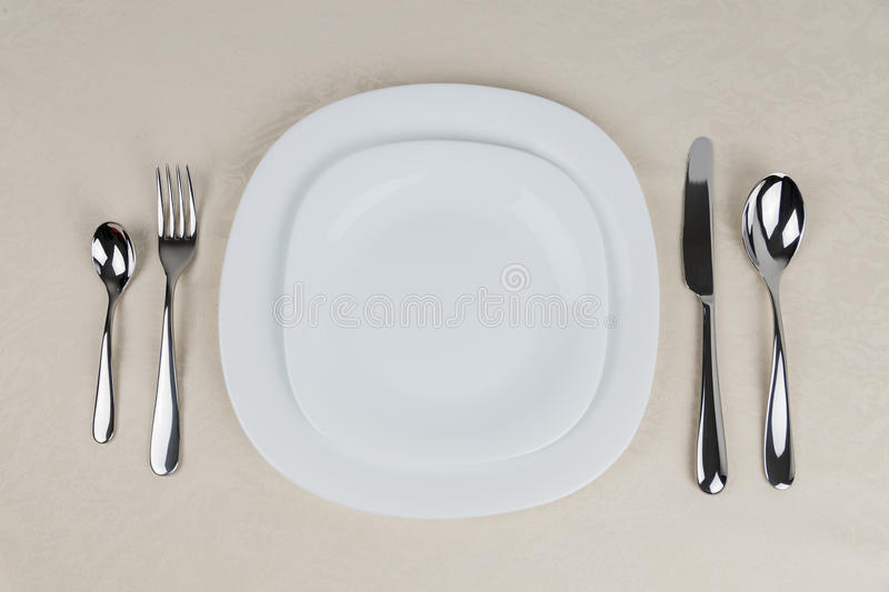 Table Setting stock image. Image of teaspoon, fork, meal - 66483427