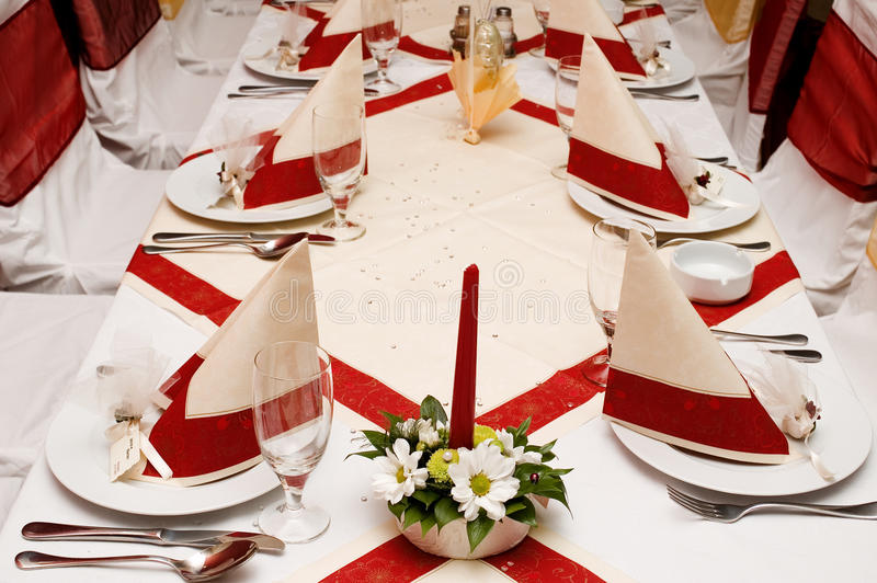Table settings stock images