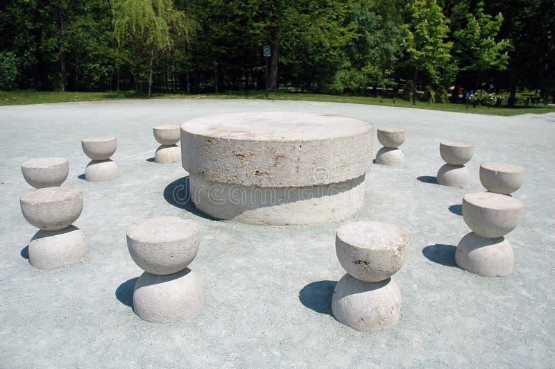 Table silencieuse de Constantin Brancusi image stock