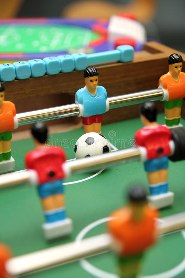 Table Soccer Game. With ball and goalkeeper royalty free stock photography