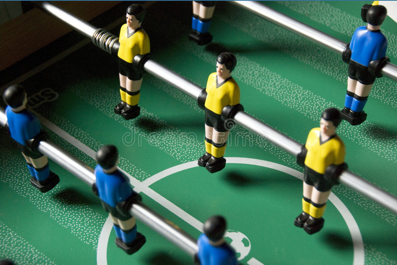 Download Table soccer players stock photo. Image of players, blue - 5072254