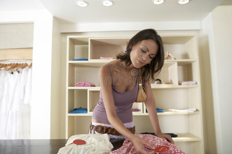 Download On Table with Tag stock photo. Image of clothes, attractive - 25669722