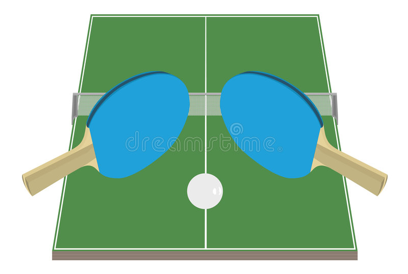 Table Tennis royalty free illustration