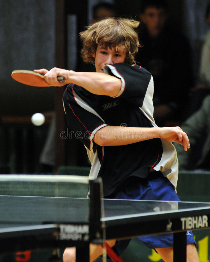 Table tennis action stock photography