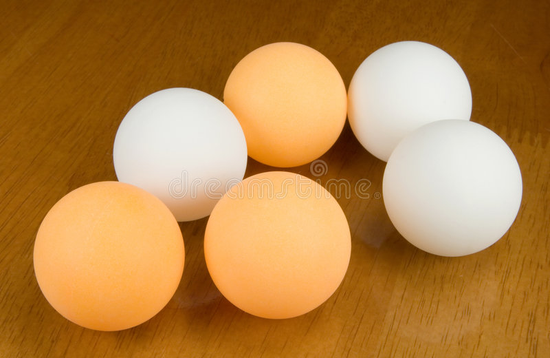 Table tennis balls royalty free stock photography
