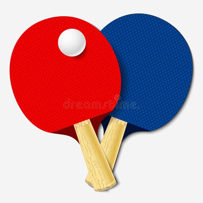 Table tennis bats vector illustration