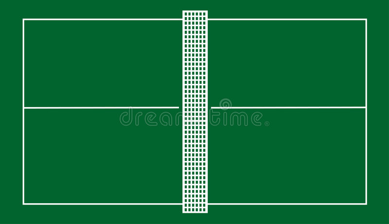 Table tennis court royalty free illustration