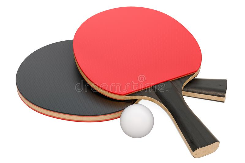Table tennis equipment, 3D rendering stock illustration