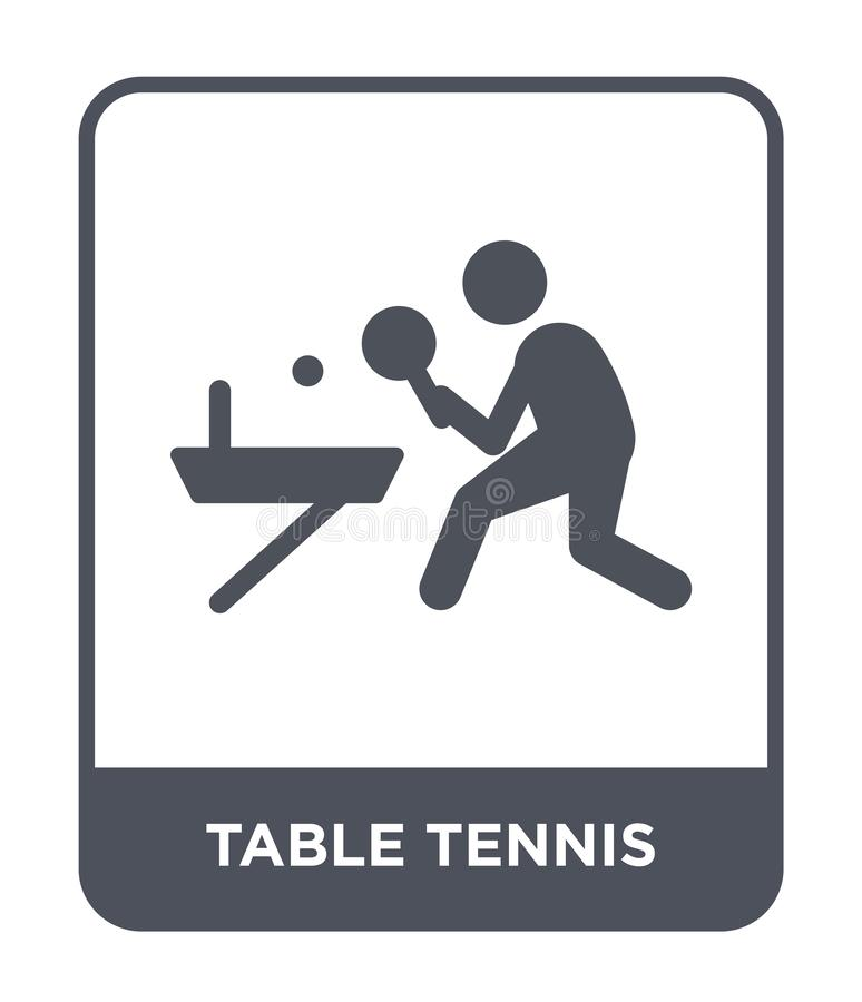 table tennis icon in trendy design style. table tennis icon isolated on white background. table tennis vector icon simple and stock illustration