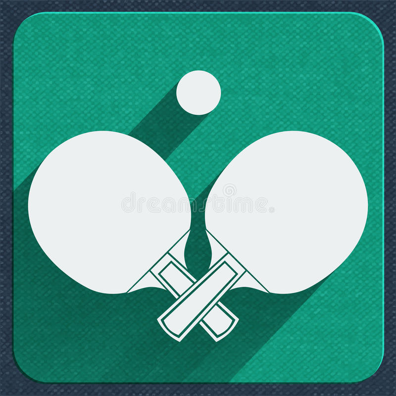 Table tennis icon vector illustration