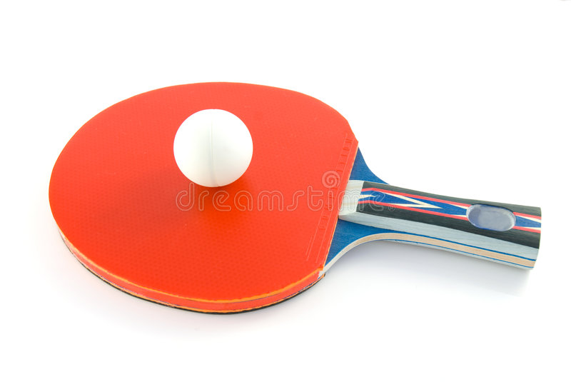 Table tennis paddle royalty free stock photos