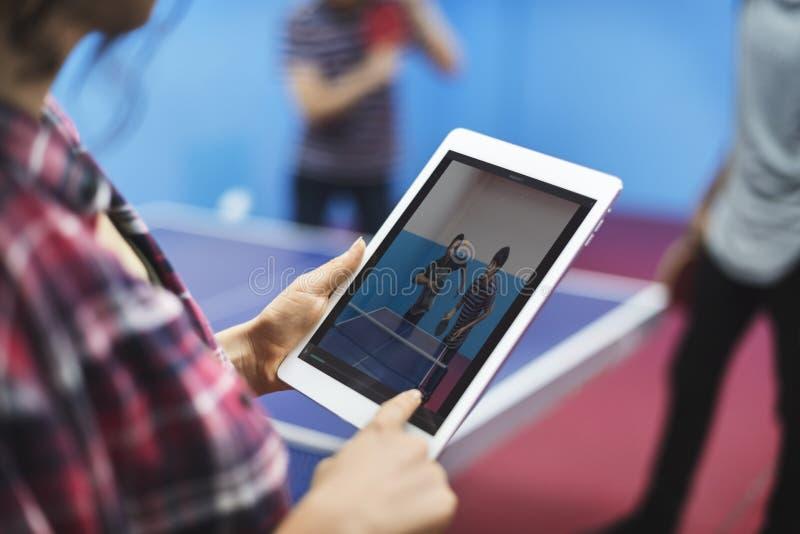 Table Tennis Ping-Pong Sport Activity Concept stock photos