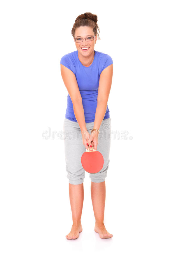 Table tennis player stock photo