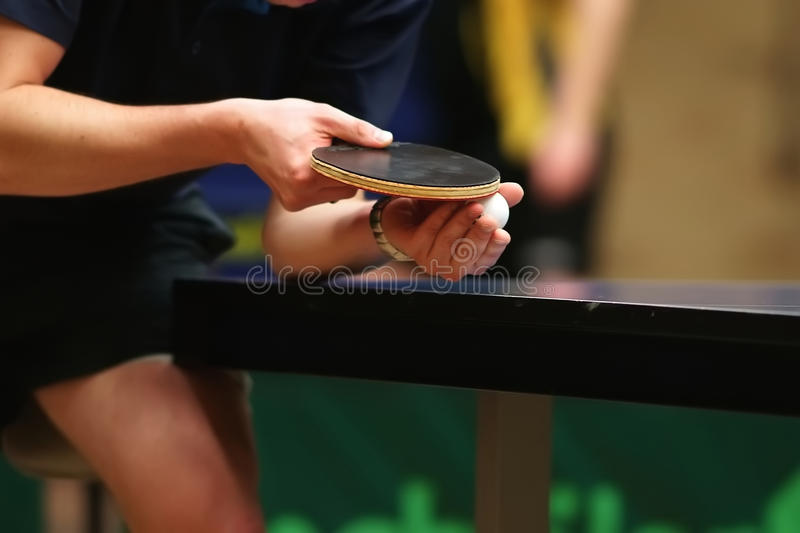 Download Table Tennis Player Serving Stock Photo - Image: 11669256