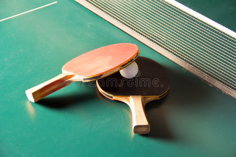Download Table Tennis Rackets With Ball Stock Photo - Image: 22541864