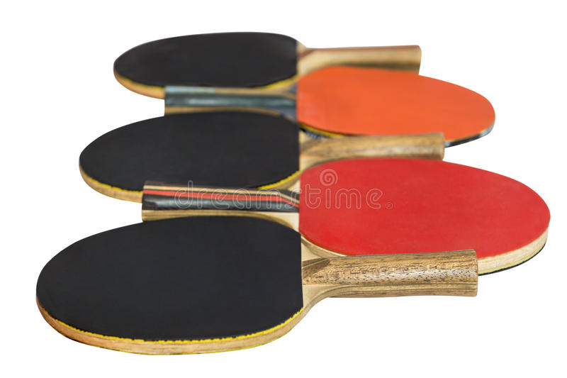 Table tennis rackets isolated on white background royalty free stock photo