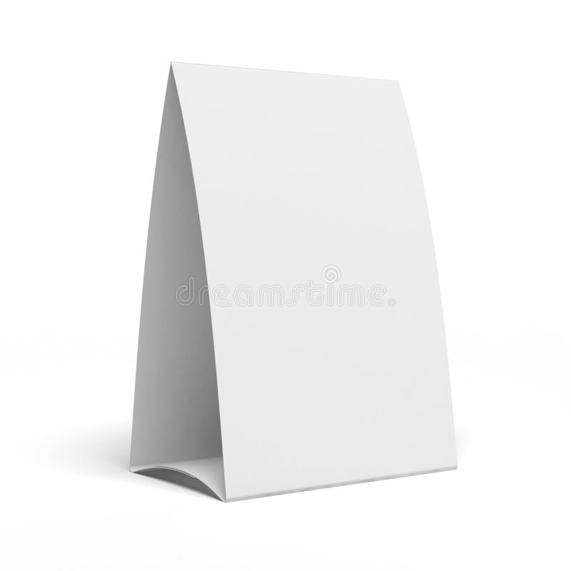 Table Tent. Isolated on a white background stock illustration