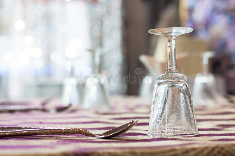 Table to prepare the site for parties such as wedding anniversaries, banquets, weddings, etc. Table to be prepared for the party, such as party, wedding stock images