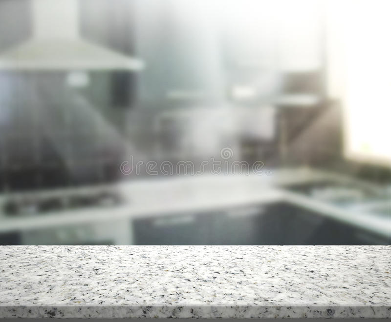 Table Top And Blur Interior Background stock image
