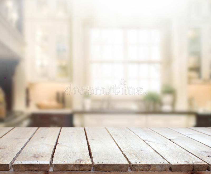 Table Top And Blur Interior Background stock photography