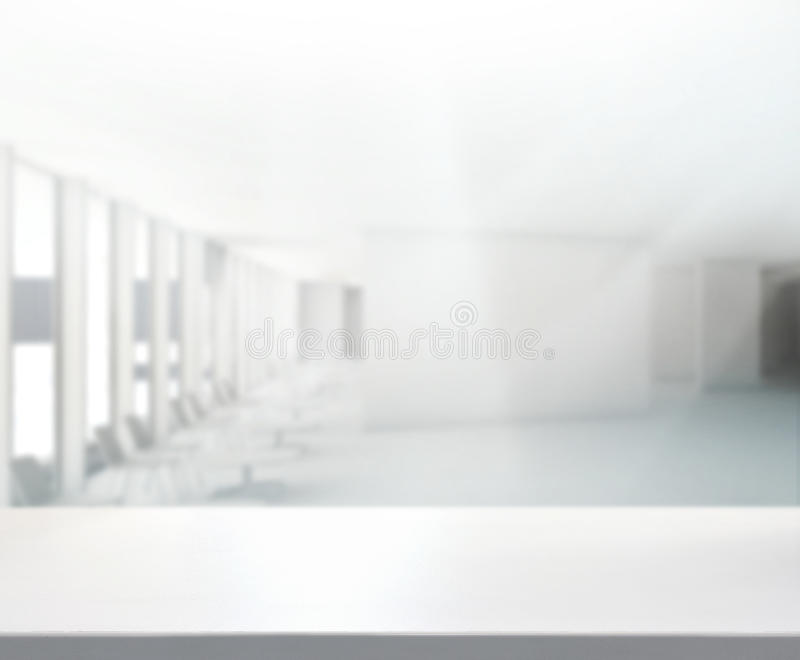 Table Top And Blur Office Background royalty free stock photography