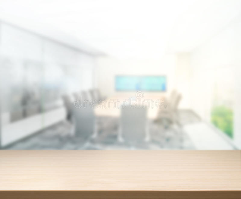 Table Top And Blur Office Of Background royalty free stock photos