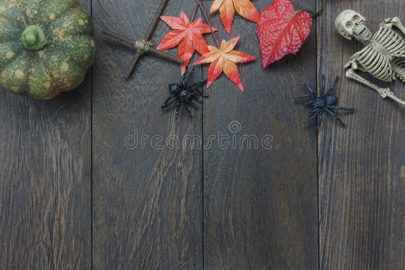 Table top of decoration sign Happy Halloween festival royalty free stock images