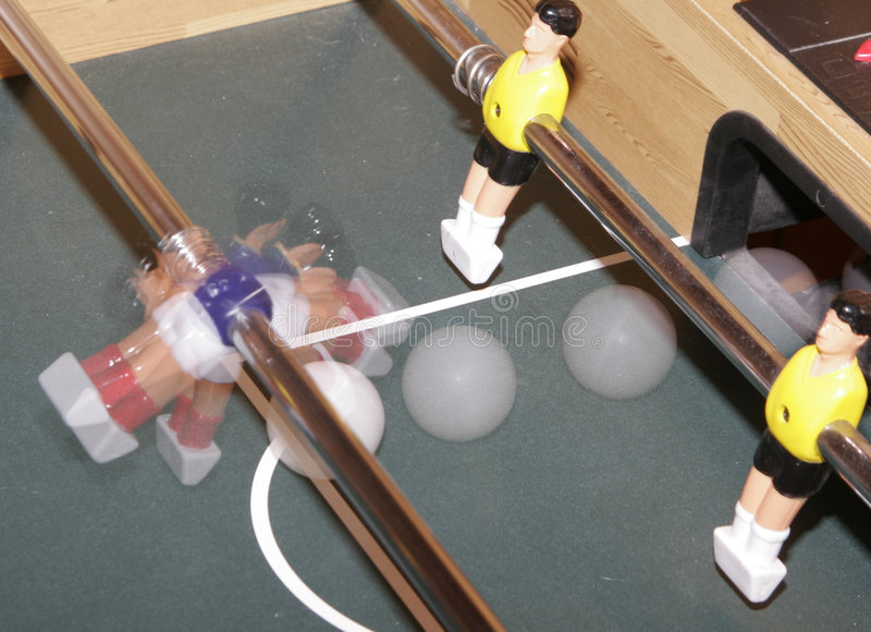 Table top soccer stock photo