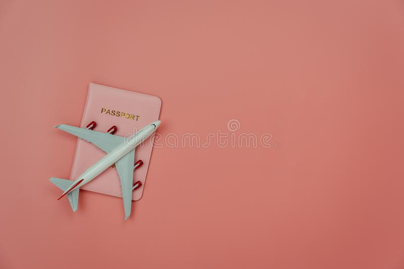 Table top view accessory of accessory travel in holiday background concept. stock images