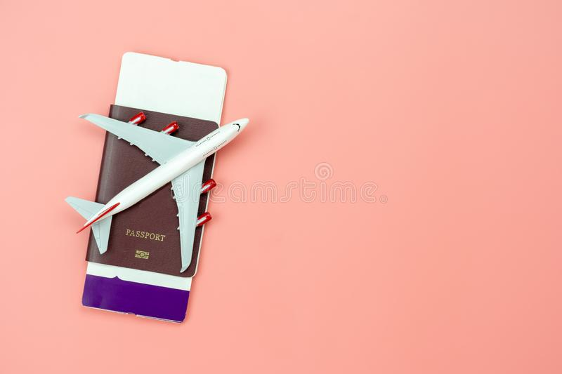 Table top view accessory of accessory travel in holiday background concept. stock photos