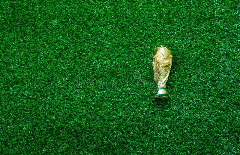 Table top view aerial image soccer or football season background concept stock photo