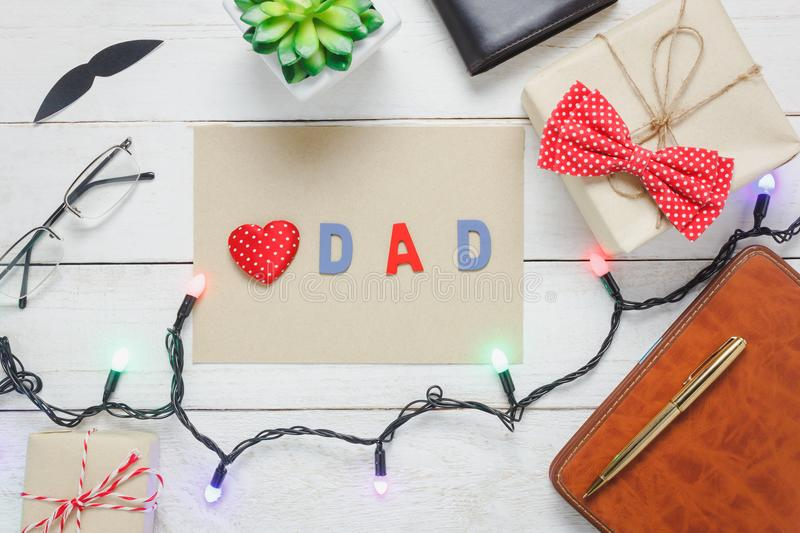 Table Top View Happy Fathers Day Holiday Background With ...