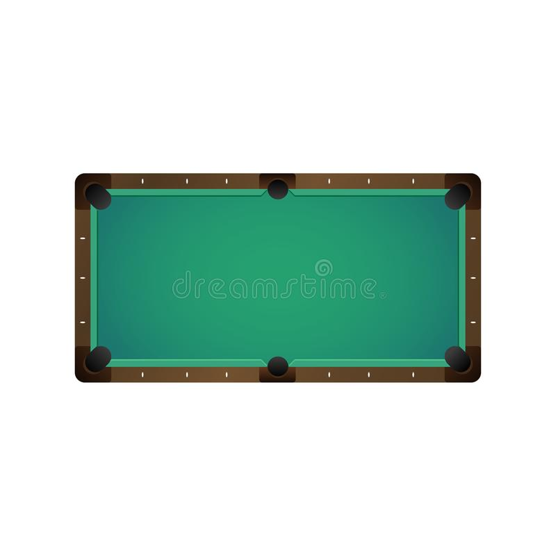 Table vide de billard de vecteur de billard plat de piscine illustration libre de droits