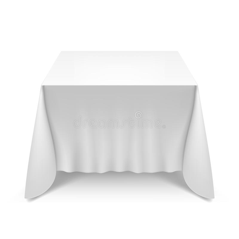 Download Table With White Cloth Stock Illustration. Illustration Of  Interior   37942708