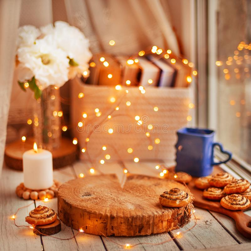 Cozy home background stock photography
